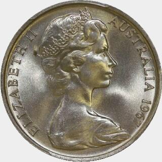 1967  Ten Cent obverse