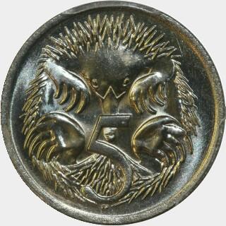 1975  Five Cent reverse