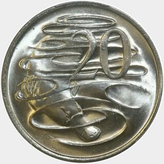 1975  Twenty Cent reverse