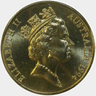 1994  One Dollar obverse