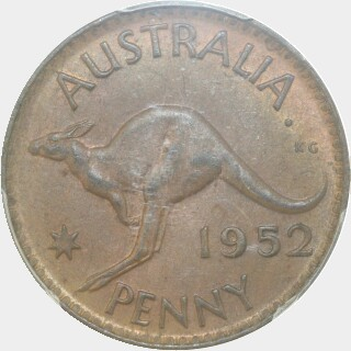 1952-A  Penny reverse