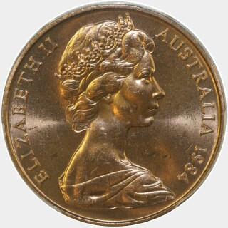 1984  Two Cent obverse