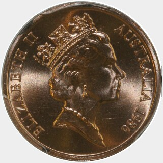 1986  One Cent obverse