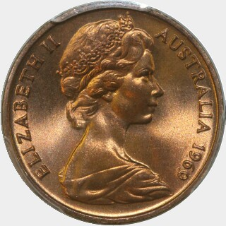 1969  One Cent obverse