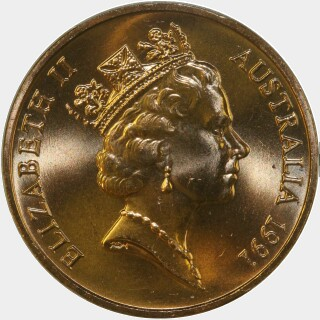 1991  Two Cent obverse