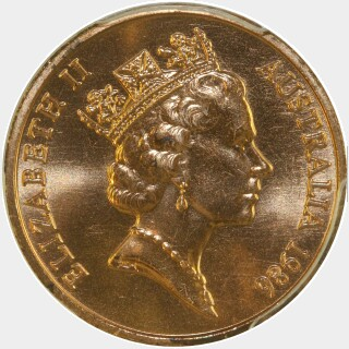 1986  Two Cent obverse