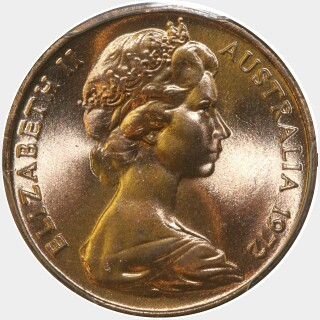 1972  One Cent obverse