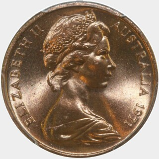 1971  One Cent obverse