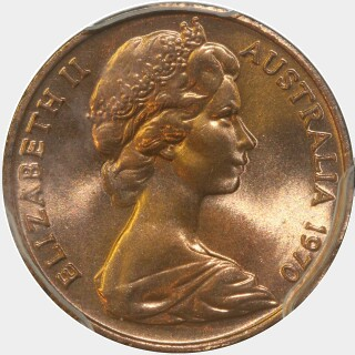 1970  One Cent obverse