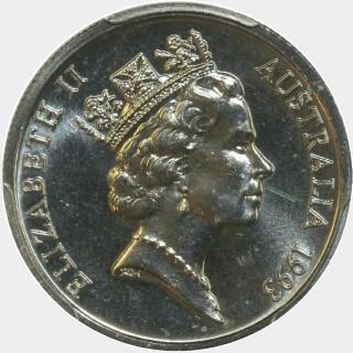 1993  Five Cent obverse