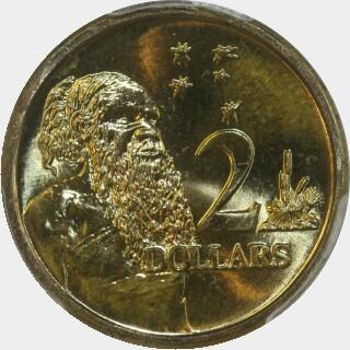 1992  Two Dollar reverse