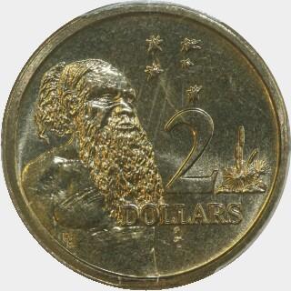 1989  Two Dollar reverse