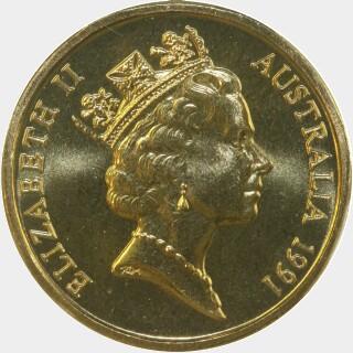 1991  One Dollar obverse