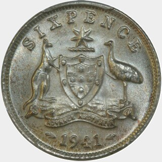1941  Sixpence reverse