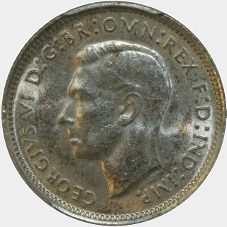 1941  Sixpence obverse