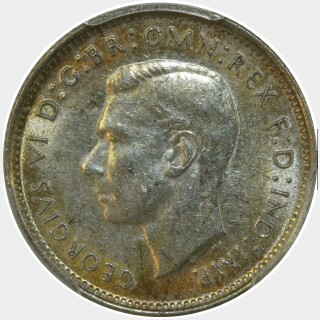 1939  Sixpence obverse