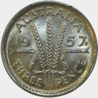 1957  Threepence reverse