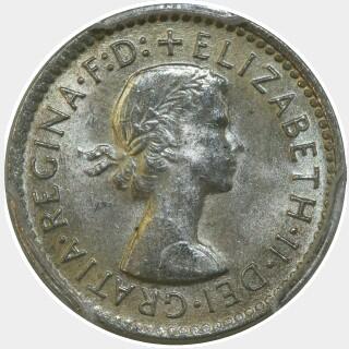 1957  Threepence obverse