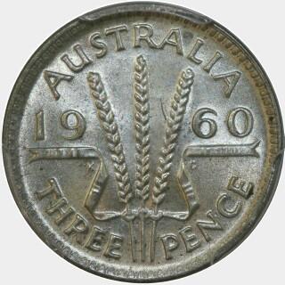 1960  Threepence reverse