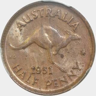1951-Y  Half Penny reverse