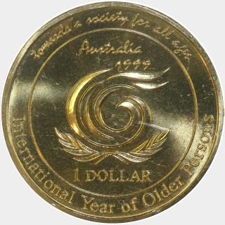 1999  One Dollar reverse