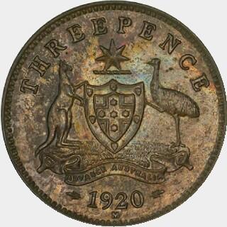 1920-M Specimen Threepence reverse