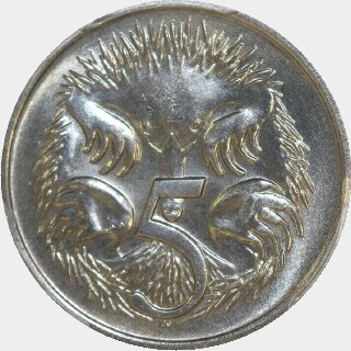 1978  Five Cent reverse