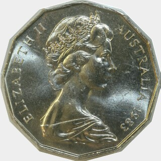 1983  Fifty Cent obverse
