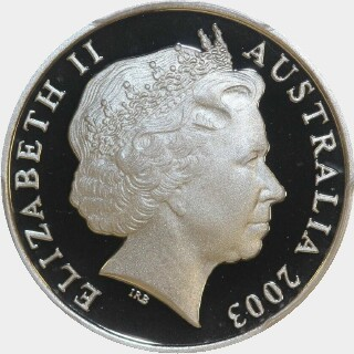 2003 Proof Ten Cent obverse