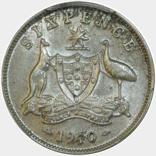 1940  Sixpence reverse