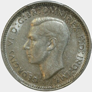 1940  Sixpence obverse