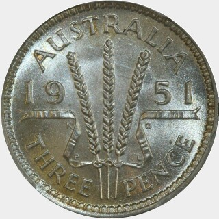 1951-PL  Threepence reverse