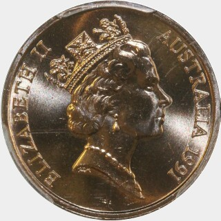 1991  One Cent obverse