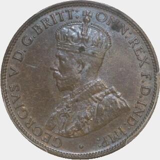 1917-I  Half Penny obverse