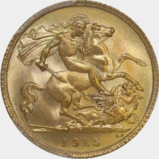 1915-S  Half Sovereign reverse