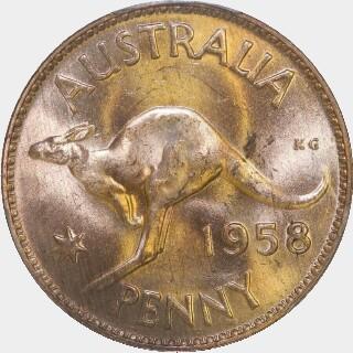 1958  Penny reverse