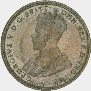 1911 Matte Proof Shilling obverse