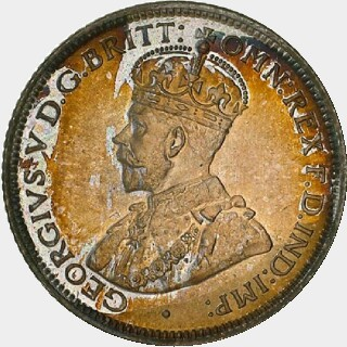 1924 Proof Sixpence obverse