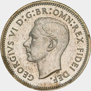 1951-PL Proof Sixpence obverse