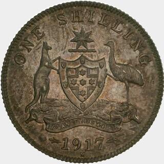 1917-M Specimen Shilling reverse