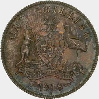 1918-M Specimen One Shilling reverse