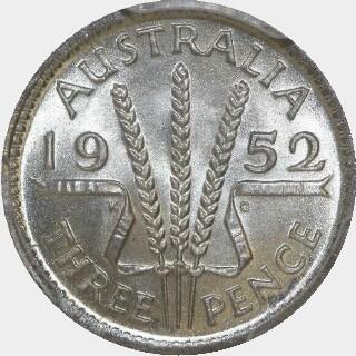 1952  Threepence reverse