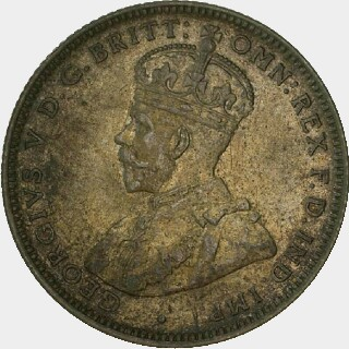 1918-M Pattern (0.500 Silver) Shilling obverse