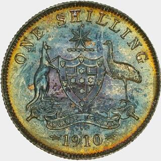 1910 Specimen Shilling reverse
