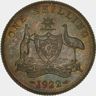 1922 Specimen Shilling reverse