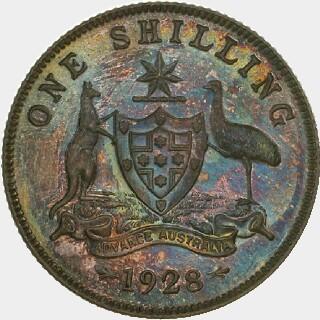 1928 Proof Shilling reverse
