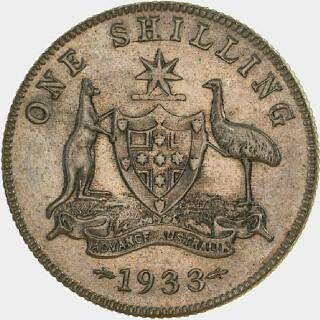 1933 Specimen One Shilling reverse