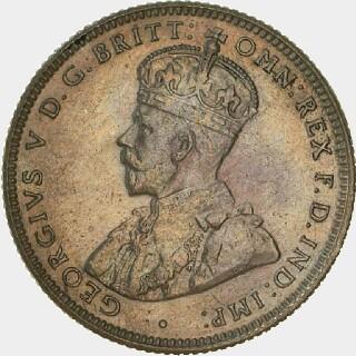 1933 Specimen One Shilling obverse