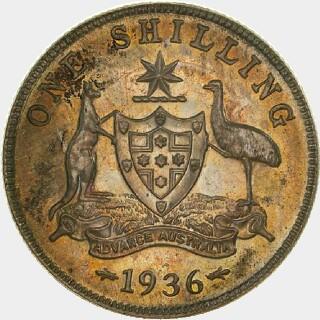 1936 Proof Shilling reverse