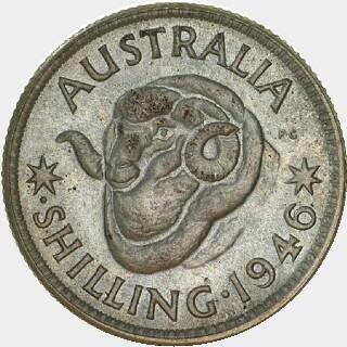 1946-P Specimen Shilling reverse